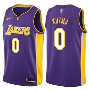 Kyle Kuzma #0 Los Angeles Lakers Purple Jersey